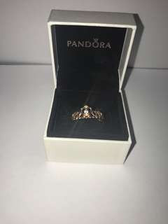 Pandora rose gold princess crown
