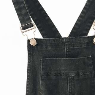 Sampson & Taylor black denim overalls