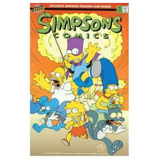 Simpsons Comics #5 (July 1994) - When Bongos Collide! (Exclusive Simpsons Trading Card Inside!)