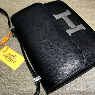 Hermes Sling Black Bag