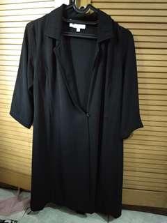 Black Blazer Dress Free Size