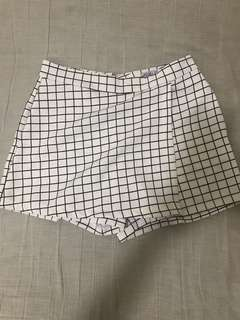 GRID SKORT (Skirt+Shorts)