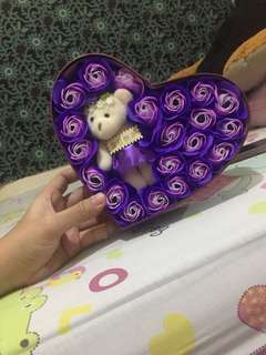 box teddy bear