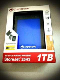Transcend Portable Hard Drive (1TB) *Stire Jet 25H3*