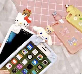 IPhone  hello kitty 布旬狗 玉桂狗 melody 日本卡通電話款手機殼