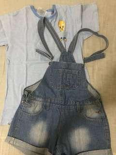 SET SALE!!! Oversize vintage shirt + Jumper shorts