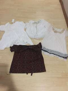 4 tops for 15$