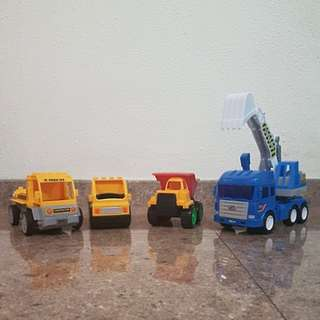 Set of truck toys