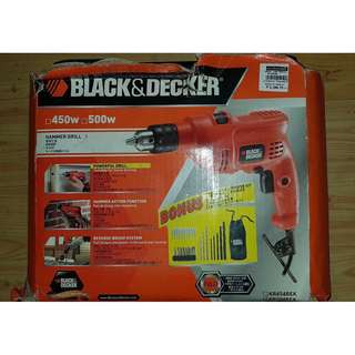 ALMOST bRAND NEW! - Black & Decker 500W Electric Hammer Drill