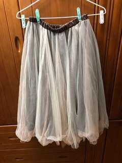 CHUU 雙層紗裙