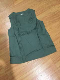 baju lengan buntung green