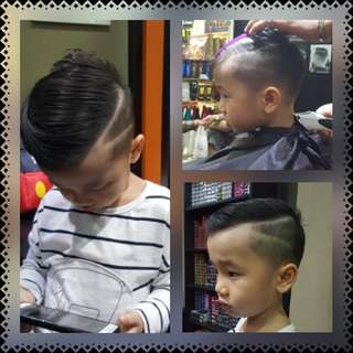 Hair cut with design