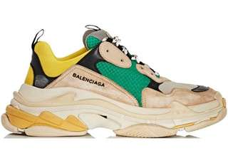 WTB BALENCIAGA TRIPLE S YELLOW GREEN SZ 42