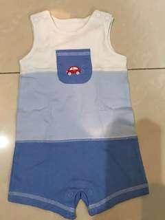 3-6M 無袖連身衣sleeveless Bodysuit