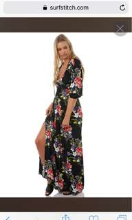 Swell label floral maxi dress