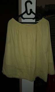 Yellow cute korean skirt