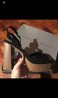 Authentic Charles and keith block heels