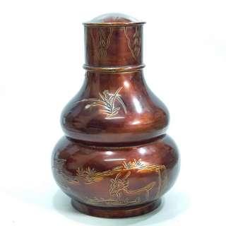 7寸葫蘆形錫茶葉罐