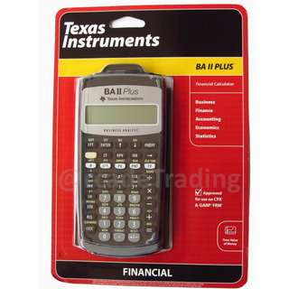 Brand New Texas Instrument BA II Plus Financial Calculator CFA Approved FRM