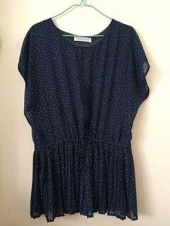 韓國直送女裝點點連身裙,可單著或襯leggings
