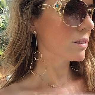 double hoop long earrings anting