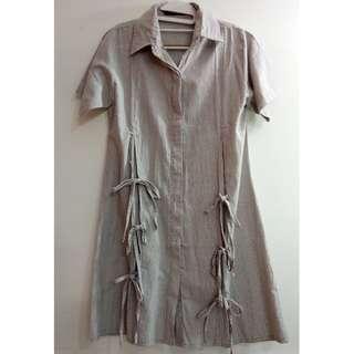 Shirtdress with Ribbon Detail