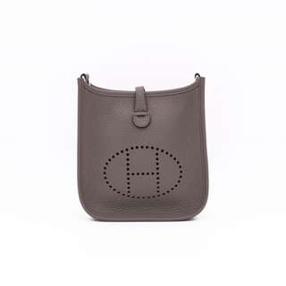 (NEW)Hermes MINI EVELYNE TAURILLON CLEMENCE TPM SHOULDER BAG PHW, ETAIN / CK8F 全新 手袋 銀扣