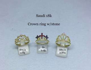 18k crown ring