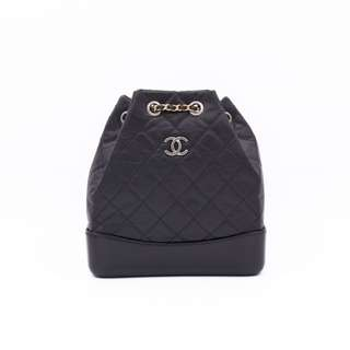 (NEW)Chanel A94485 Y61477 GABRIELLE SMALL BACKPACK CALFSKIN SMALL SHOULDER BAG, BLACK 全新 背包 黑色