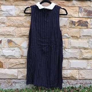(01) Pull & Bear Navy Dress