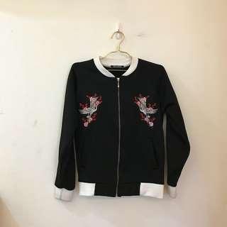 暗黑の橫須賀刺繡外套