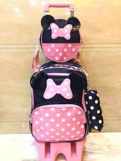 Minnie Mouse Trolley Bag 💕