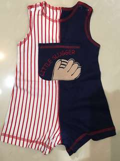 0-3M 新生兒無袖連身衣 newborn sleeveless Bodysuit