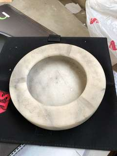 Solid marble ash tray