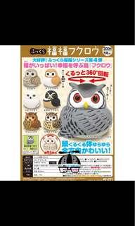 貓頭鷹扭蛋 日本購入 兩隻合售