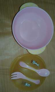 Suction Bowl with Spoon and Fork