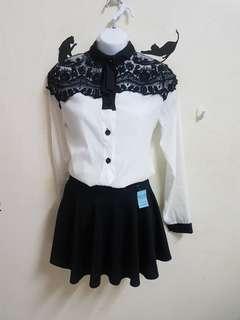 全新雕花蕾絲襯衫#一百元好物