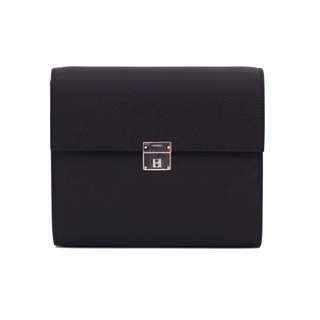 (NEW) HERMES H073509CK CLIC 16 WALLET EPSOM SHOULDER BAG PHW 全新 手袋 黑色 銀扣