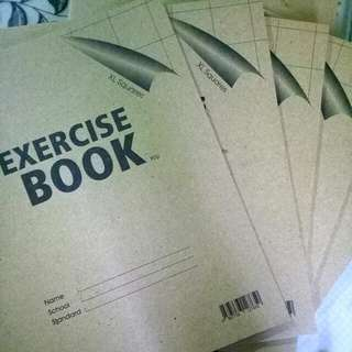 Chinese exercise books XL squares