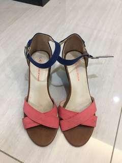 Lady 拚色楔形鞋