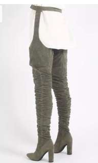 Public desire thigh high boots / belt