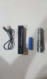 Rechargeable strong led flashlight