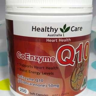 澳洲healthy care輔助酵素Q10膠囊 (200粒)全新未開封現貨