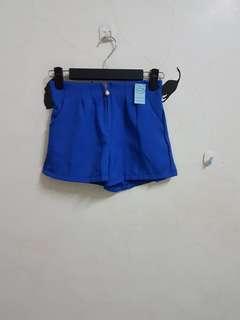 🚚 全新F鬆緊寶藍色短褲#一百元好物