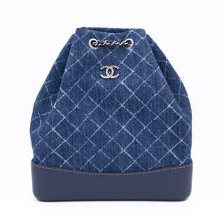 (NEW) CHANEL A94502 Y83393 MEDIUM DENIM GABRIELLE BACKPACK FABRIC BACKPACK 全新 背包 藍色