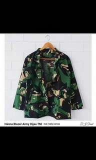 Hanna Blazer Hijau Army