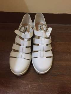 White Gladiator Platform Shoes