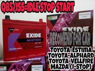 Exide matrix battery Q85/iss