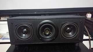Unique center channel speaker.