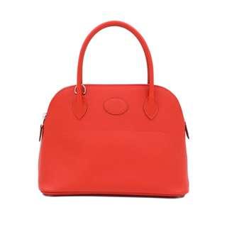 (NEW) HERMES H041693CK BOLIDE EPSOM 27 TOTE BAG PHW 全新 手袋 橙色 銀扣